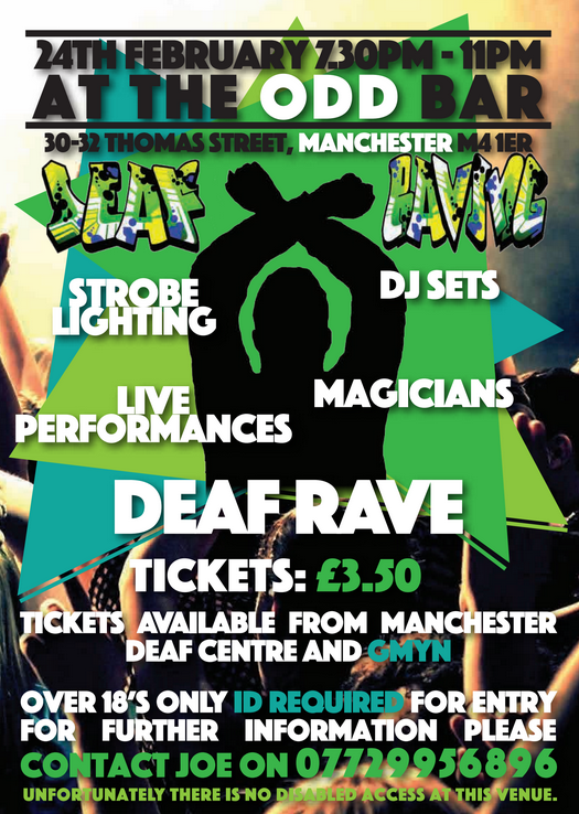 Deaf Rave flyer