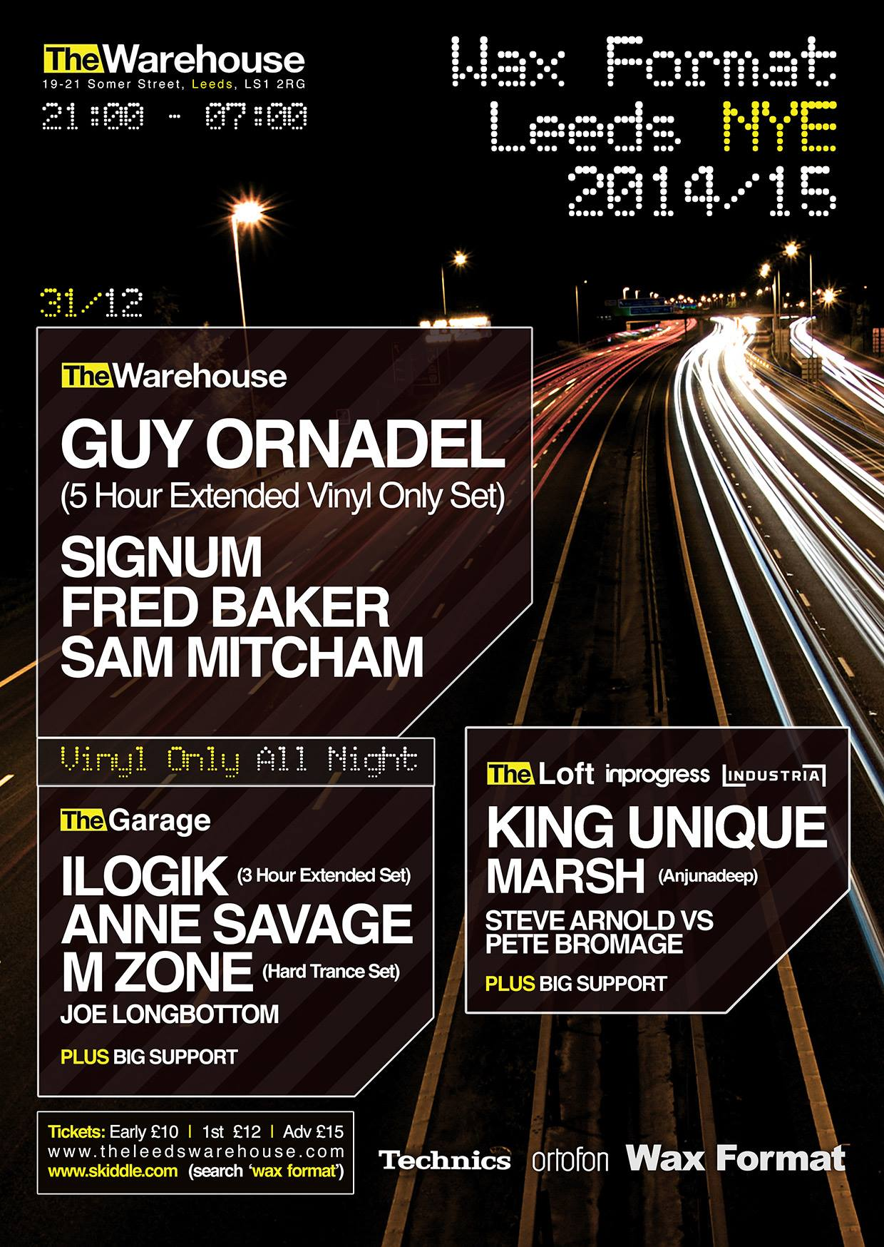 Wax Format NYE 2014 flyer